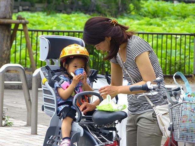 自転車の子供乗せは何歳から?
