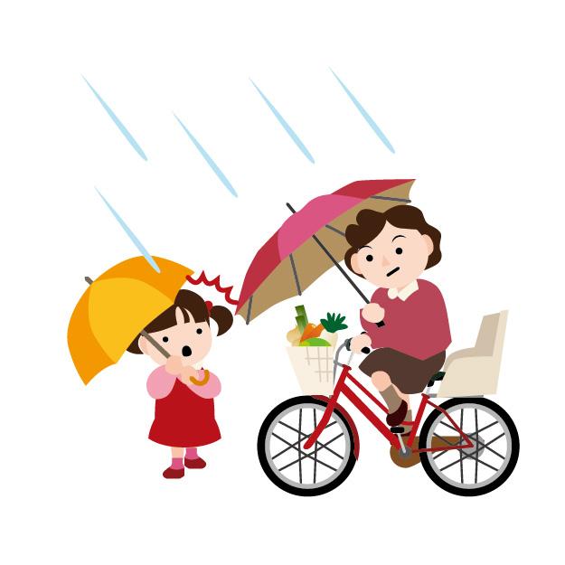 【おすすめ傘スタンド】手で傘を持って運転するのは危険!!【ベビーカーにも】