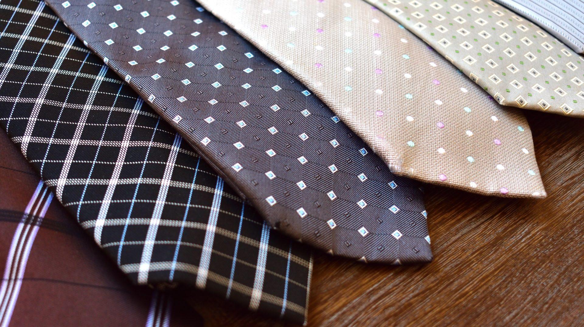 【自転車好きに】ネクタイの色と柄で印象が変わる
